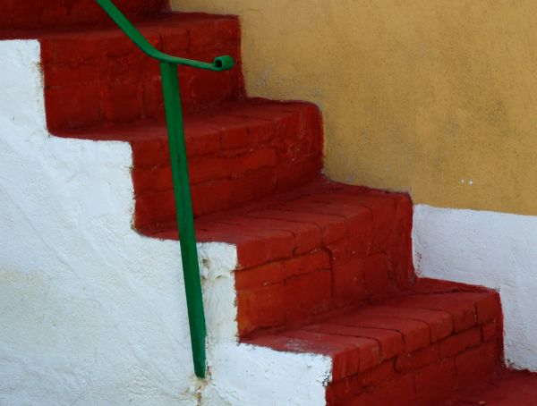 Detail of a stair on a rural home
