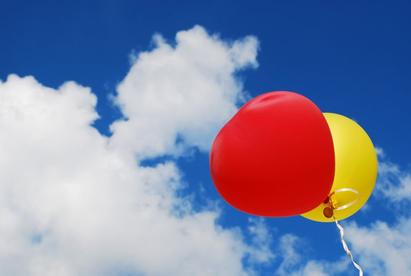 Colored baloons in the sky