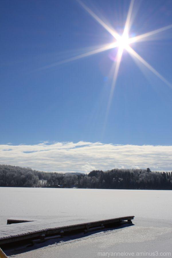 Winter, Peninsula Lake, Huntsville, Ontario