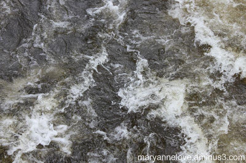 Swirling River Water
