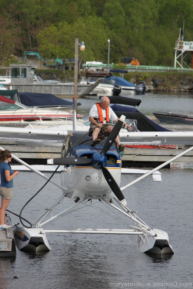 Airplane refueling, Parry Sound ON, Waterfront