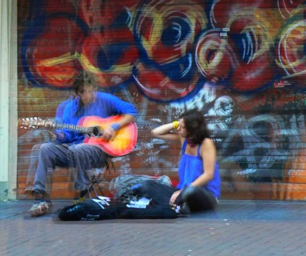 music in the street, amsterdam