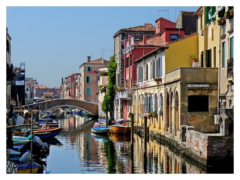 a channel in Chioggia, Italy
