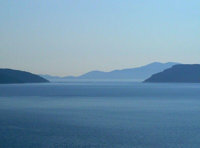 all blue landscape