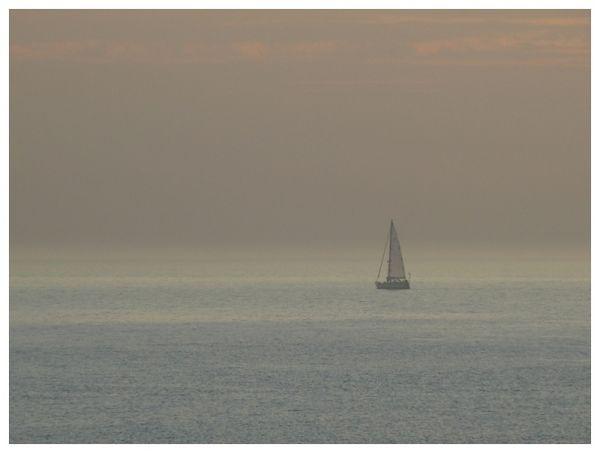 boat in the sunset, Denmark