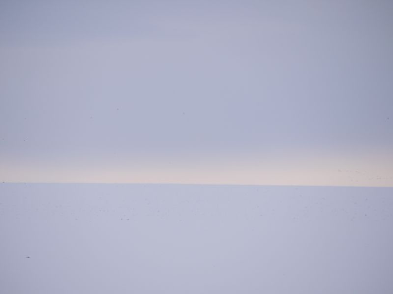 horizon line, landscape under snow