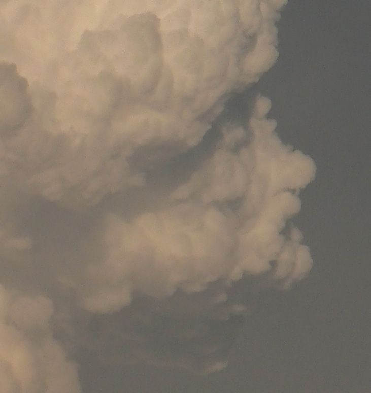 cloud looking like a human face