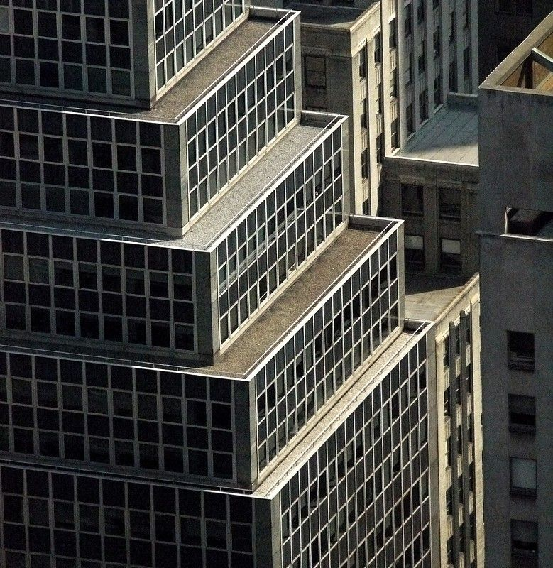 detail of a view from the Empire State building.