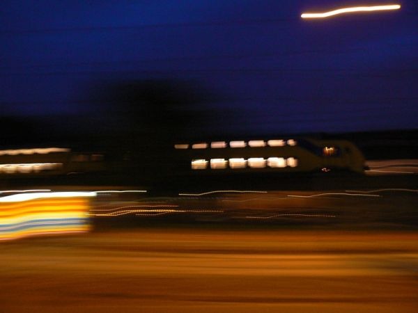 panning in the night