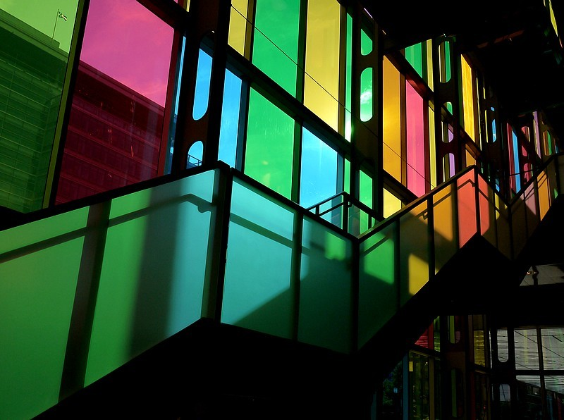 colored stairway