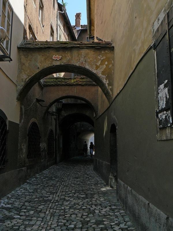 narrow street in Ljubljana