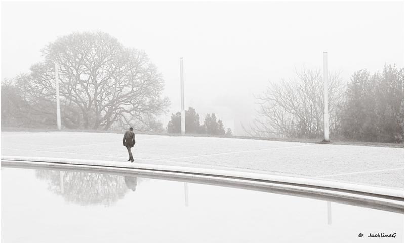 Légère dans la brume ...