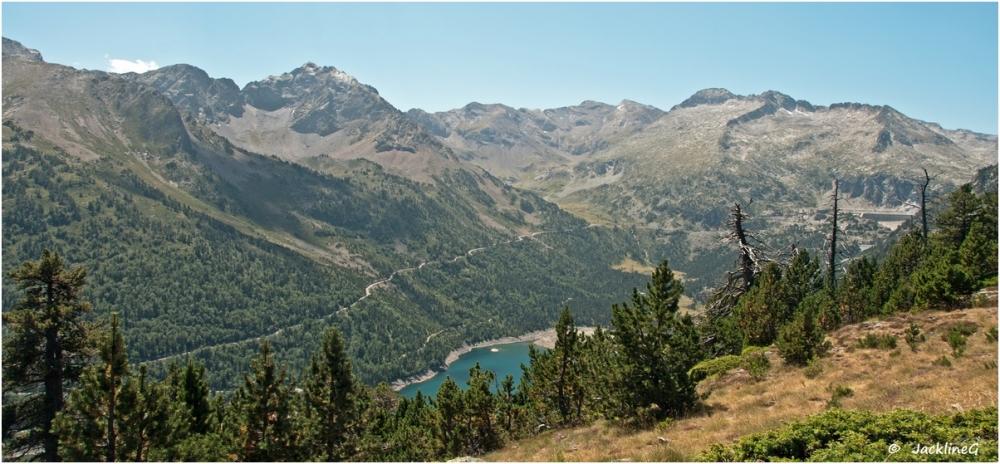 Lac d'Orédon vu du Col d'Estoudou...