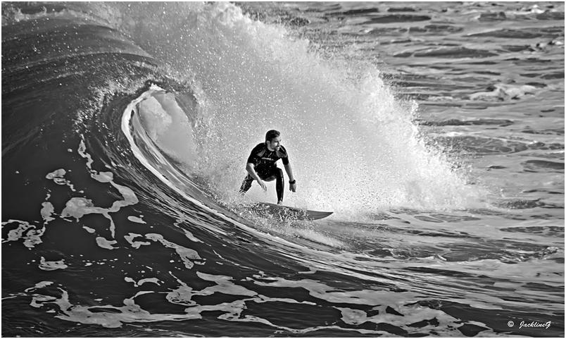 Le surfeur ...