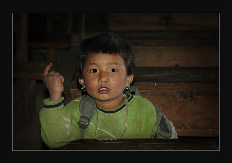 In a  Sherpa school 2 - Nepal