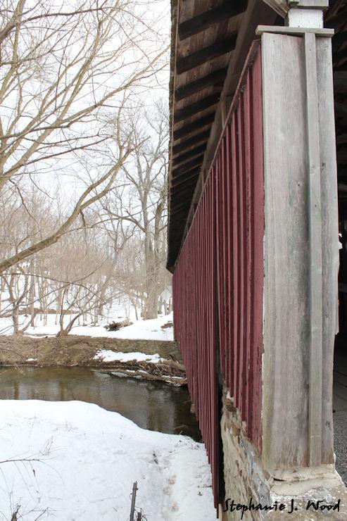 Down the side - Speakman Covered Bridge 1