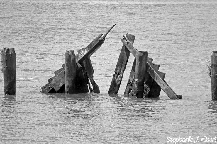 Remnants of a pier