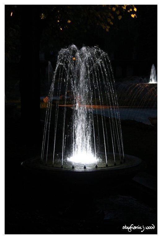 Nightime Fountain