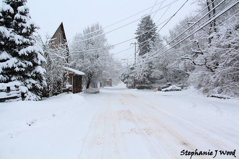 Mortonville in the Snow