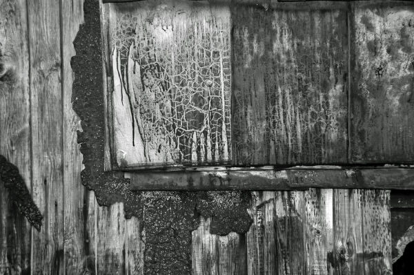 Abstract picture of a weather-beaten house