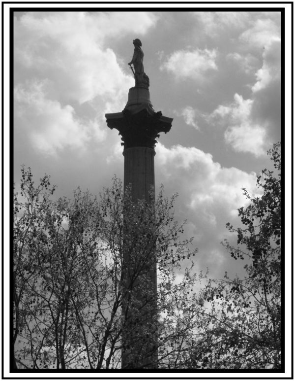 Nelson statue in Trafalgar Square