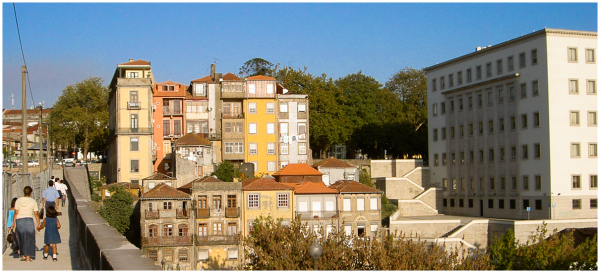 View over the old town of Porto