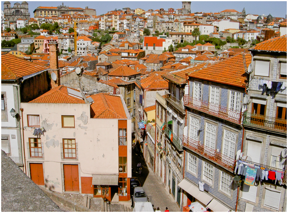 Narrow alley in Porto