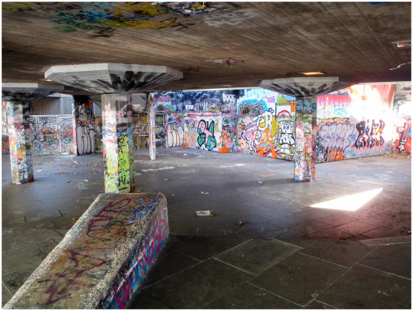 Graffiti under Royal Festival Hall London