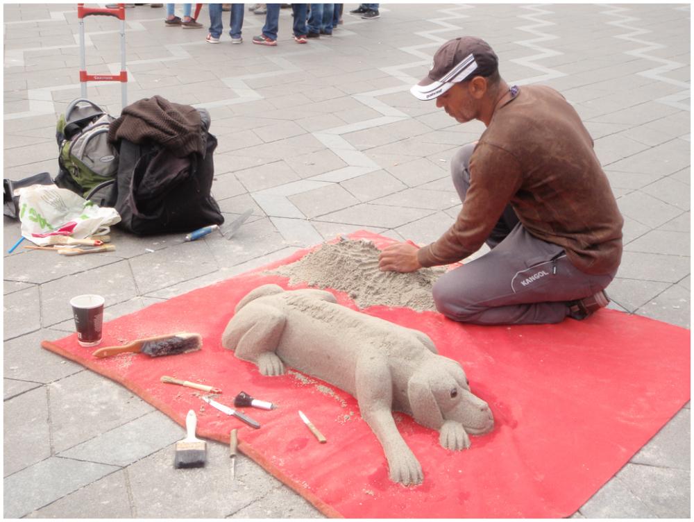 Sand artist, Copenhagen
