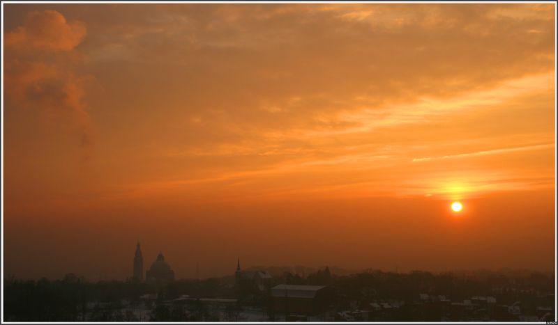 Lever de soleil sur Liège