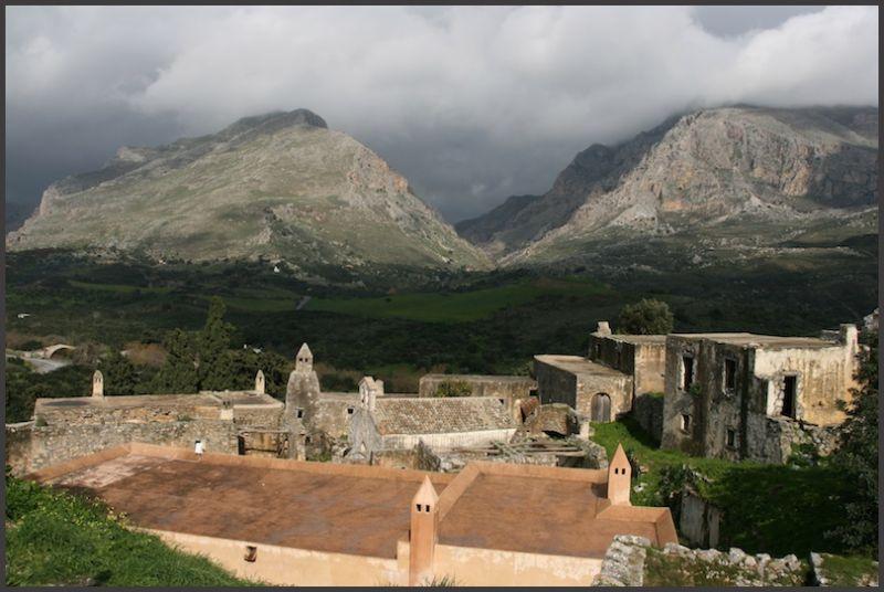L'ancien monastère de Moni Prévelli