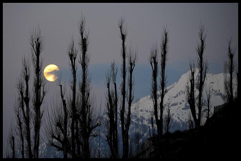 coucher de lune voilé