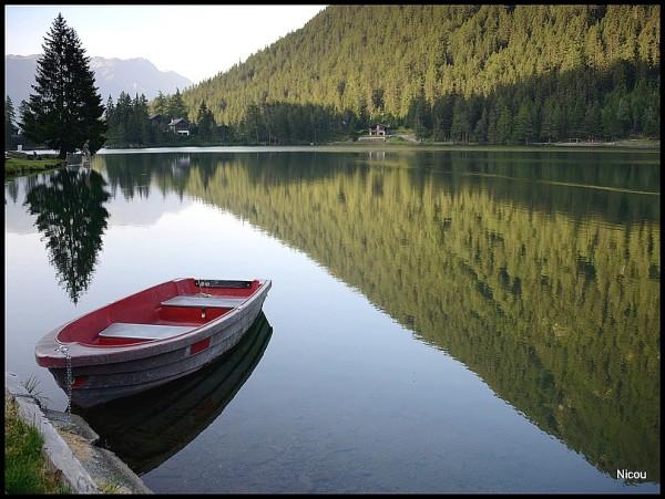 La barque solitaire de Champex