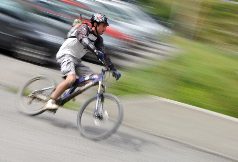bike speed motion blur