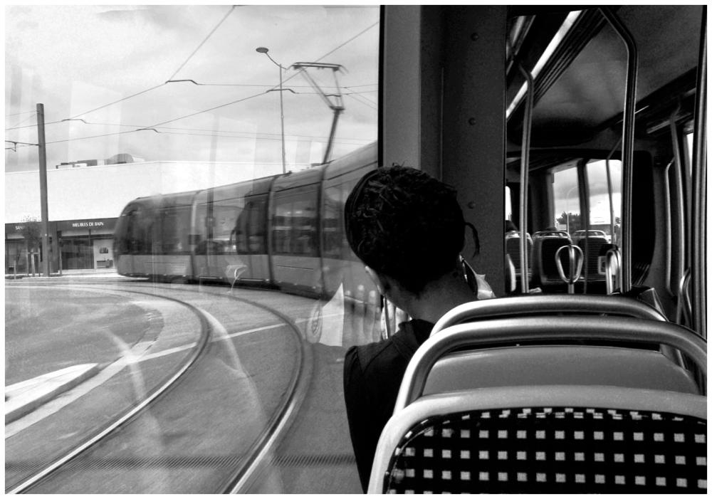 dans le tram