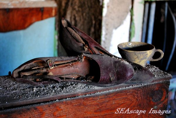 Pair of dancing shoes found in an abandoned church