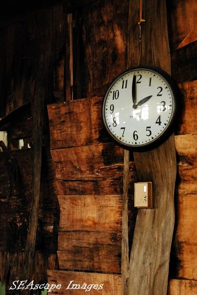 clock in abandoned factory