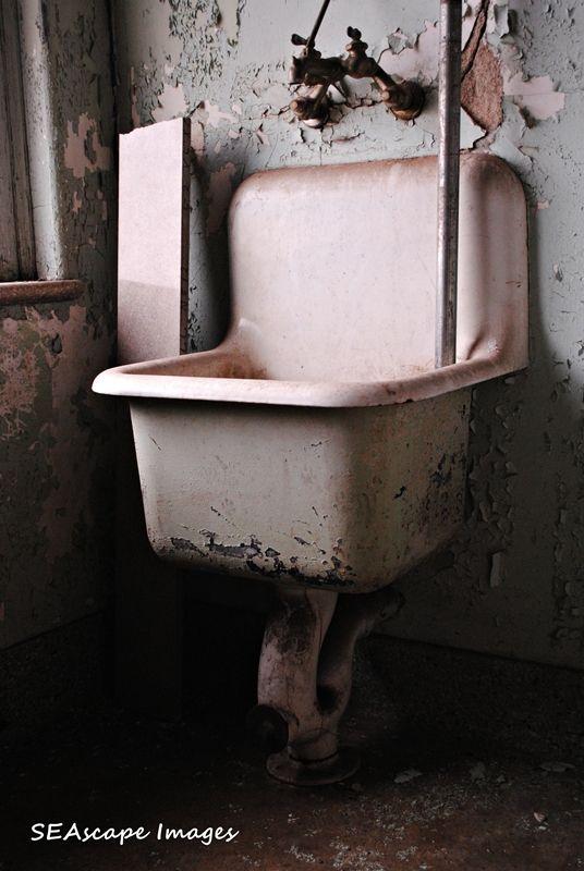 sink in abandoned hospital