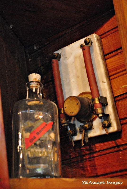 bottle in cabinet