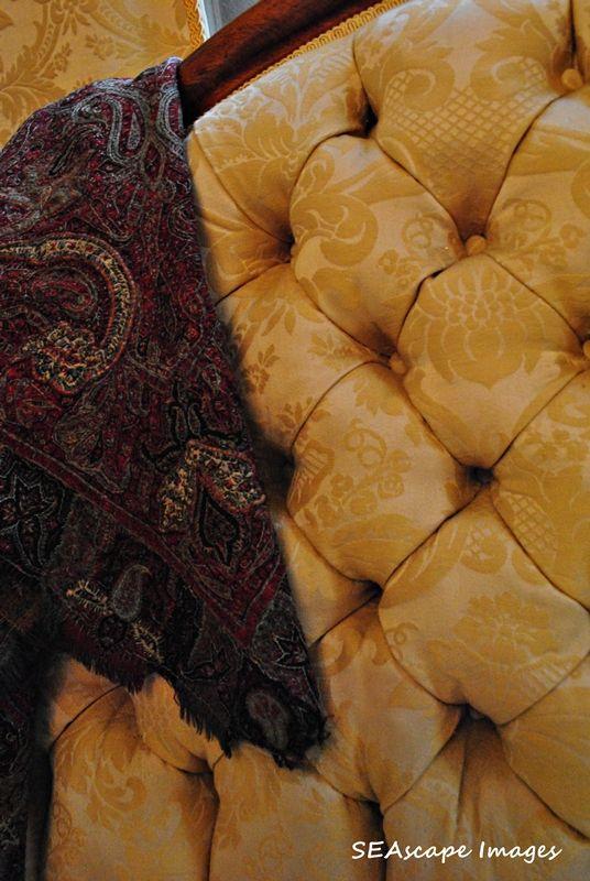 blanket on sofa