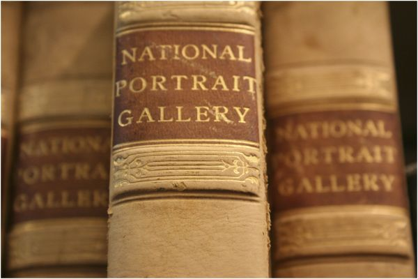 three books from The National Portrait Gallery