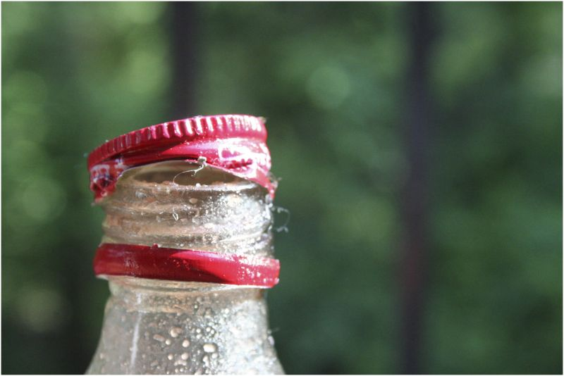 twist the cap to open the bottle