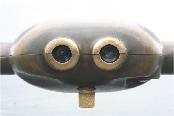 coin-operated viewing binoculars