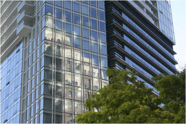 Marine Building reflected