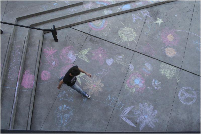 chalk landing line