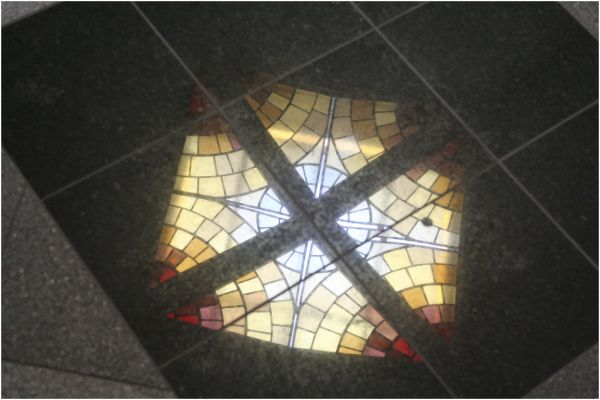 stainglass floor
