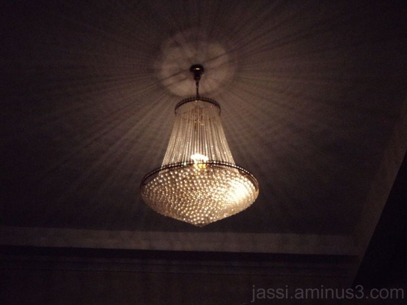 One of the costliest chandelier spreading light