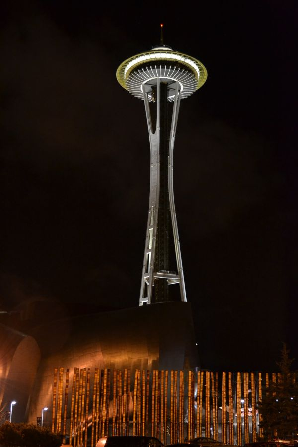 space needle, seattle, downtown