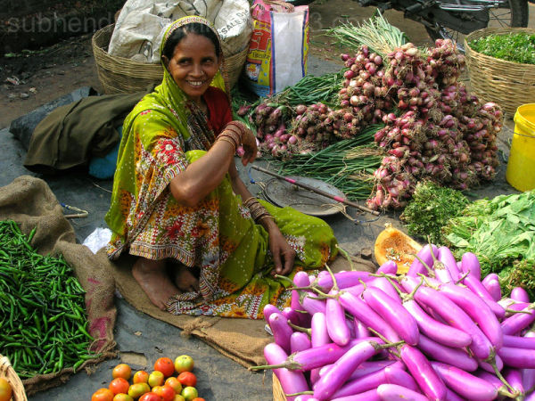 Colours Of India - the vegetable seller