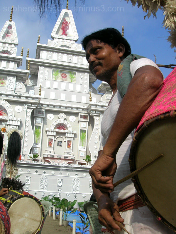 DHAKI - The drummer, In Durga Puja.
